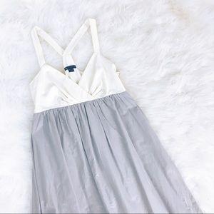 Gap Babydoll Dress Size 4 Empire Waist Silk Gray